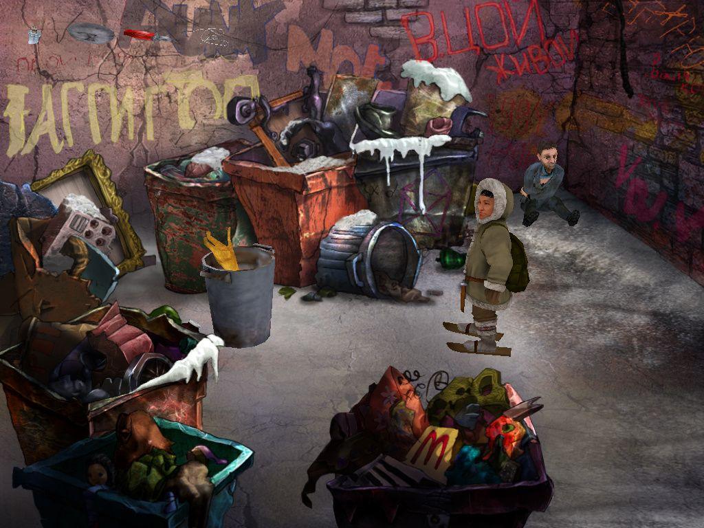 Чукча в большом городе - локация Помойка у гастронома (Москва)