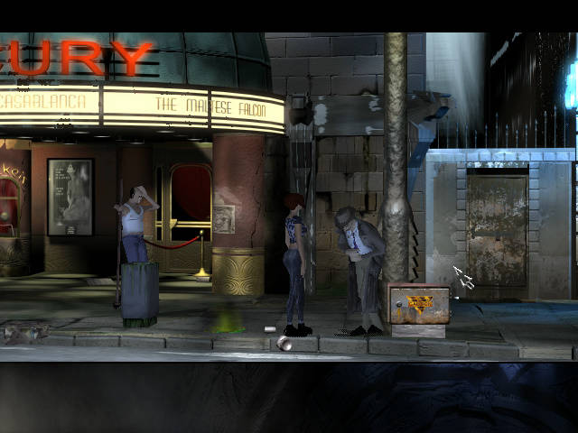 Longest Journey - локация У входа в старый кинотеатр (Глава 2)