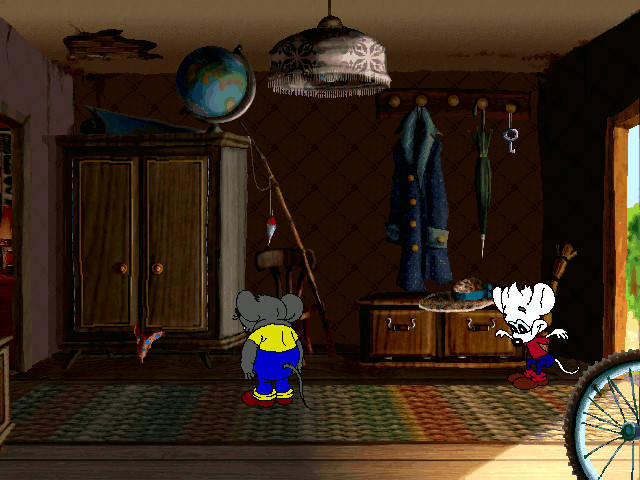 Дача кота Леопольда - мышата исследуют коридор