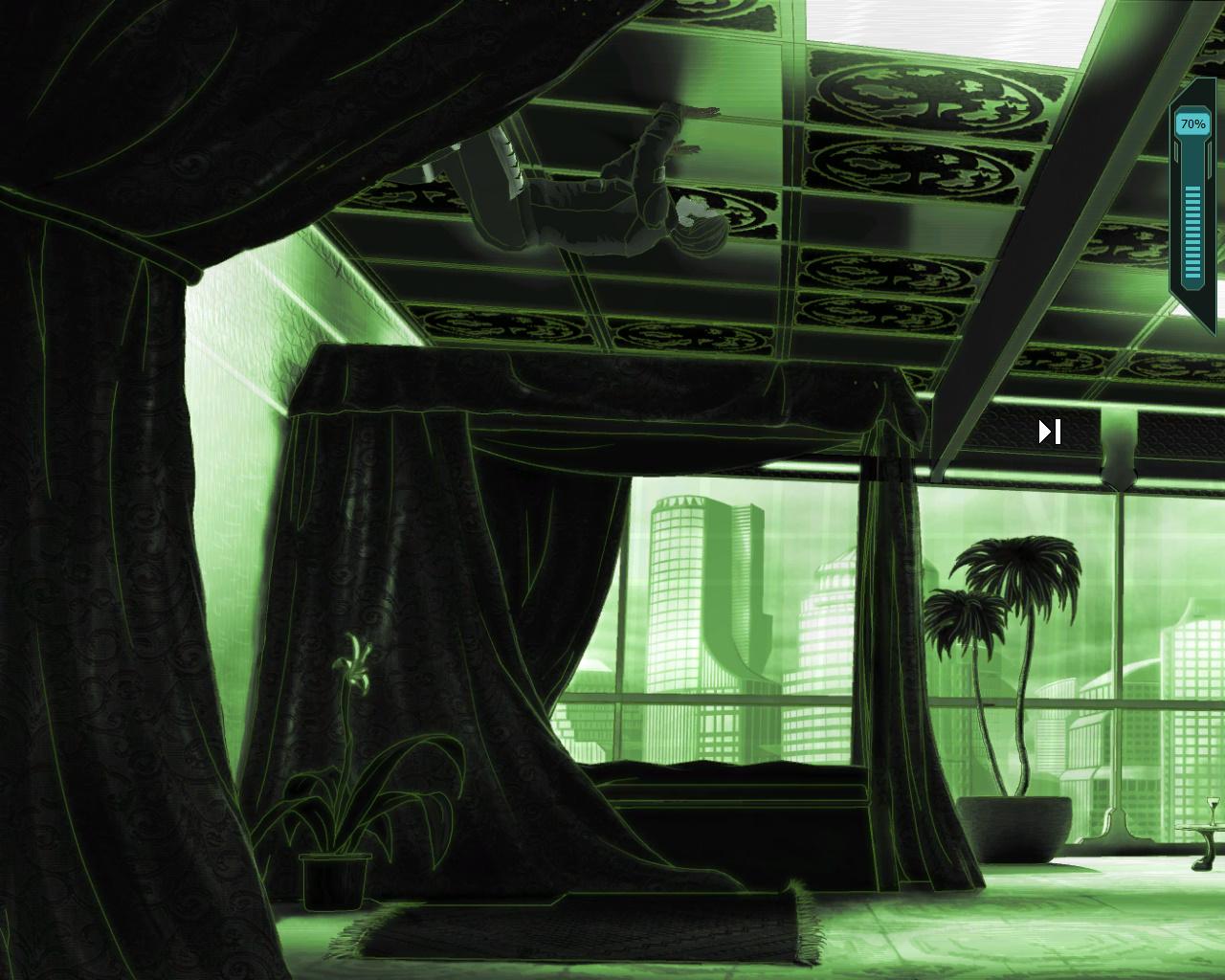 Goin' Downtown - Джейк с помощью нано-перчаток залезает на потолок (уровень 5)