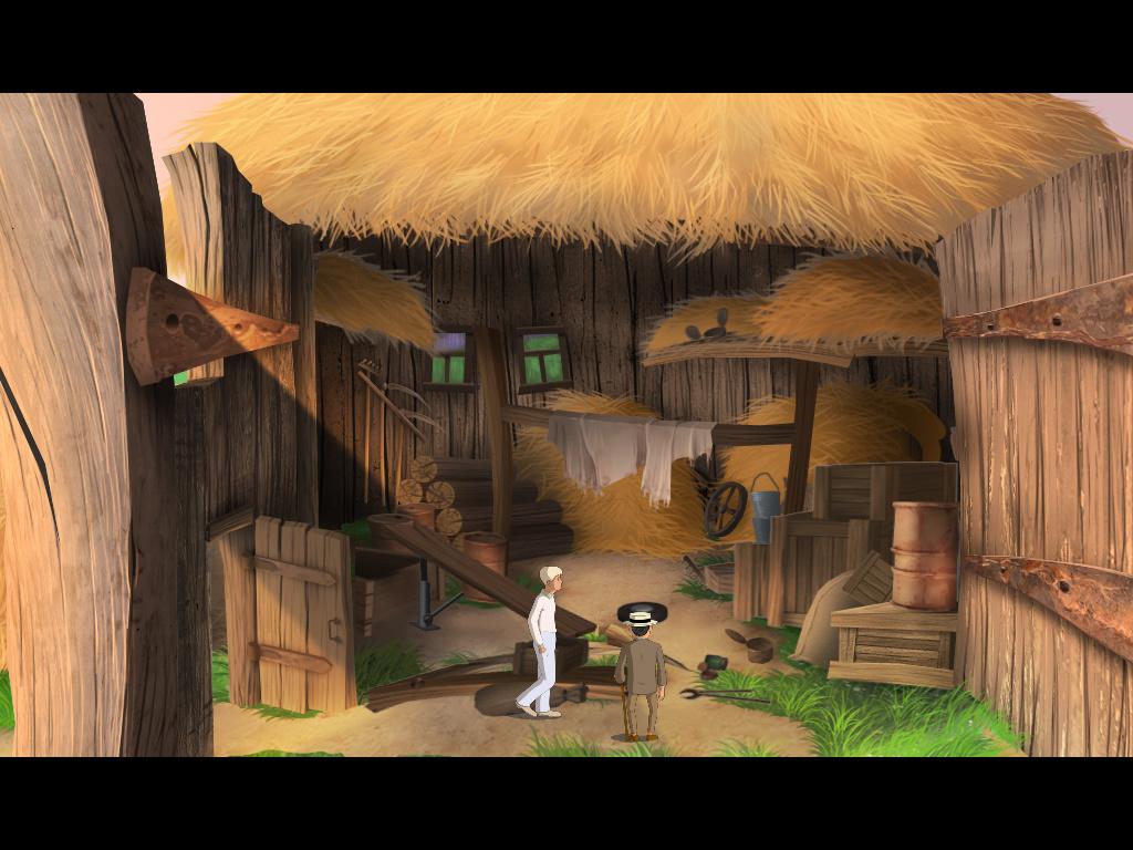 Золотой теленок - Балаганов и Паниковский в амбаре (уровень 2)