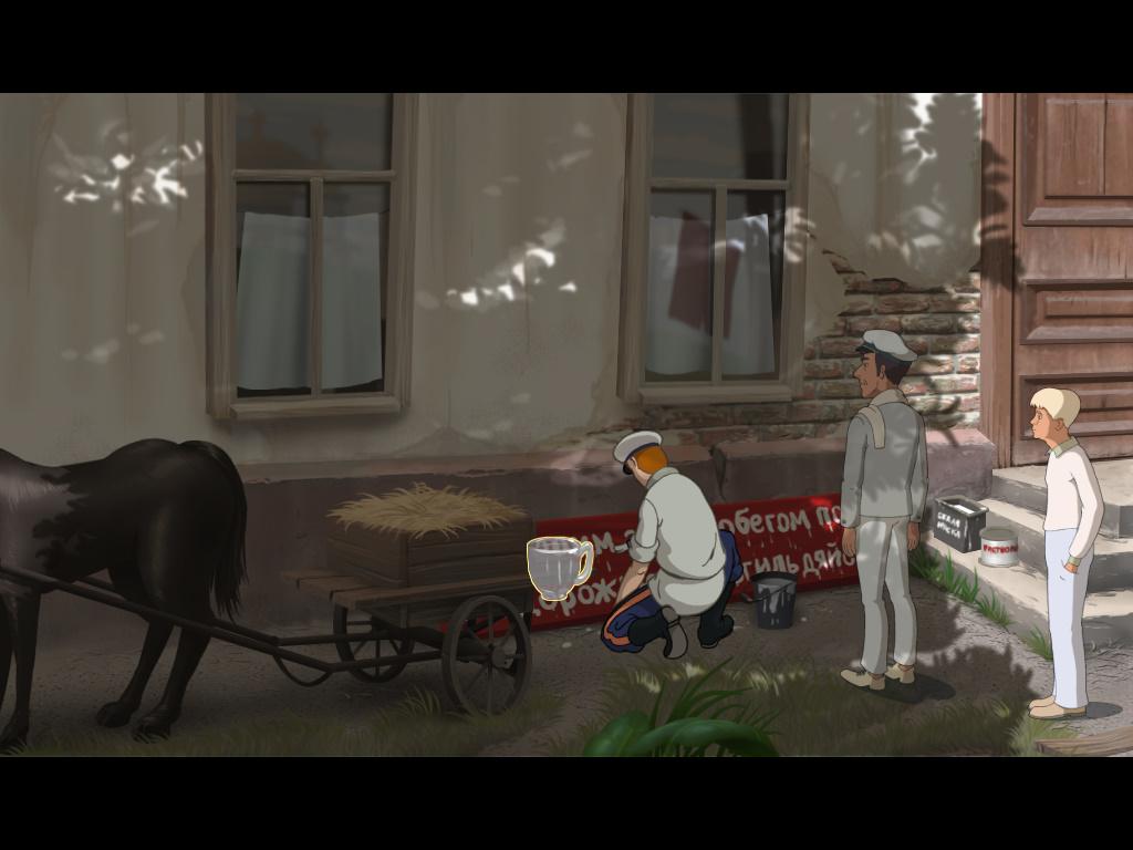 Золотой теленок - Маляр готовит плакат для участников автопробега (уровень 1)