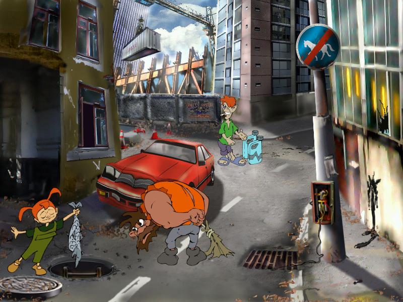 Страшилки: Шестое чувство - локация Улица (уровень 1)