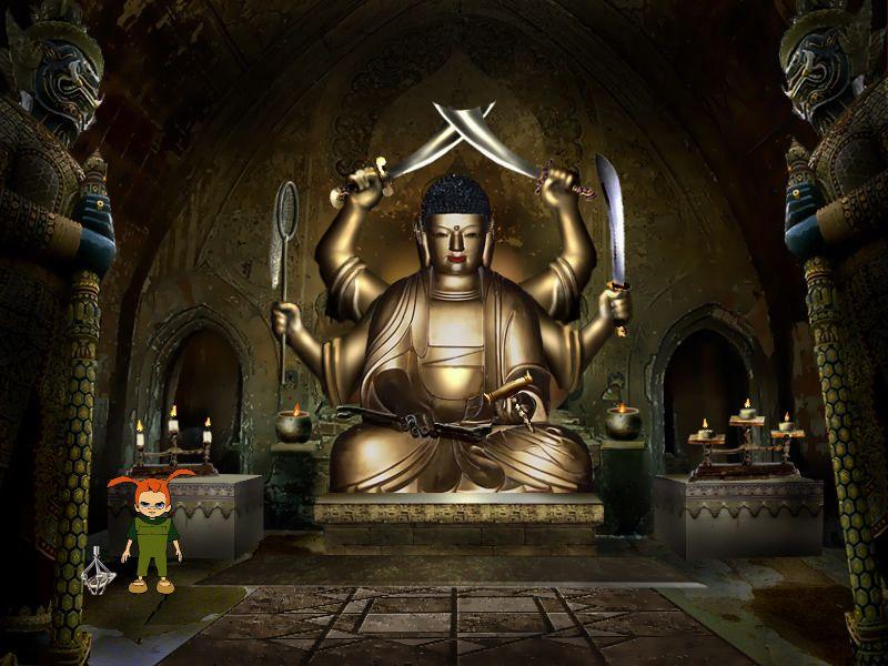 Страшилки: Шестое чувство - локация Храм Будды (уровень 5)