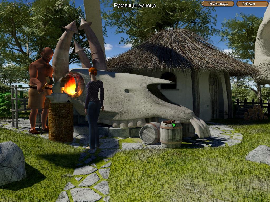 The Legend of Crystal Valley - Ева договаривается о ремонте колеса (уровень 2)