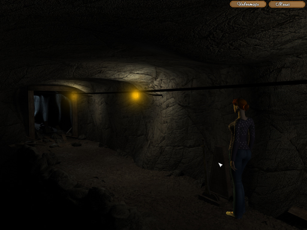 The Legend of Crystal Valley - Ева использует вагонетку, чтобы разбить стену в пещере (уровень 2)