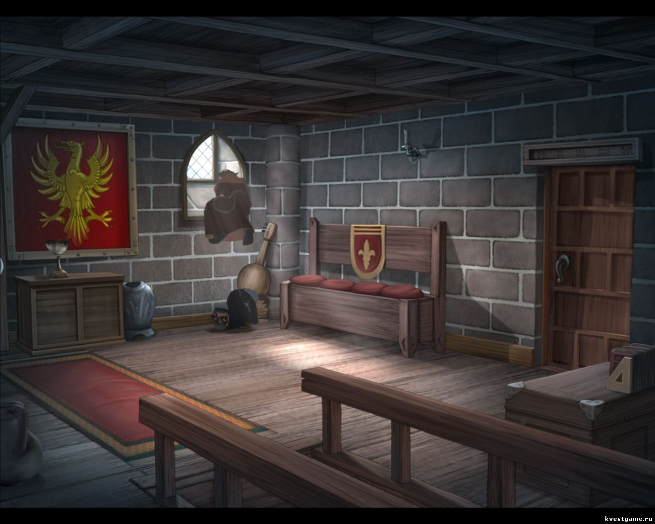 Murder in the Abbey - Бруно помогает учителю вылезти в окно (глава 2)