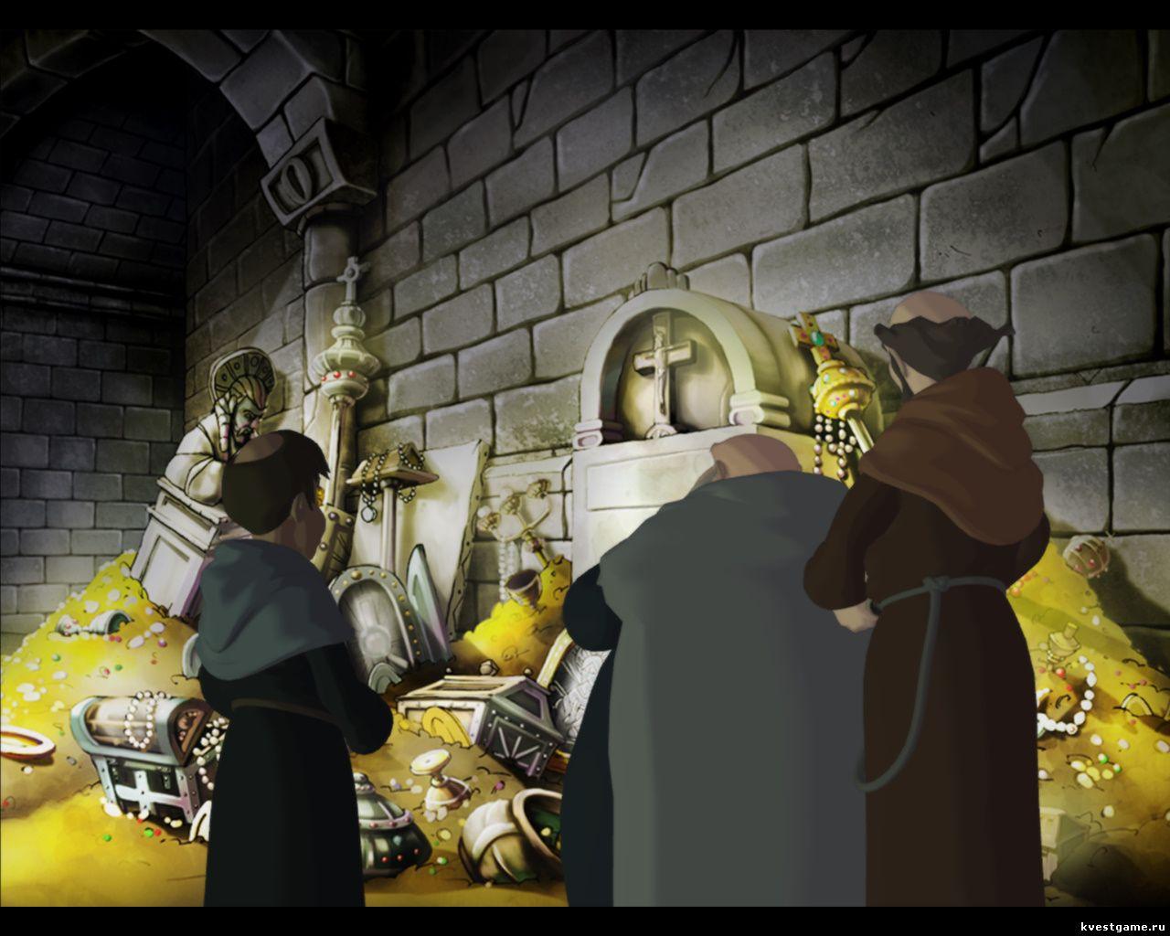 Murder in the Abbey - Леонардо делает слепок ключа от крипты (глава 2)