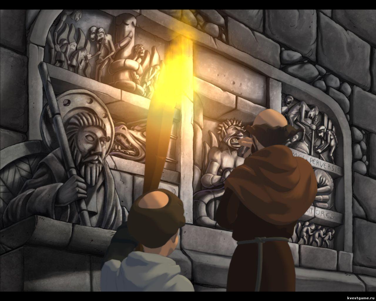 Murder in the Abbey - Леонардо ищет в склепе потайную дверь (глава 3)