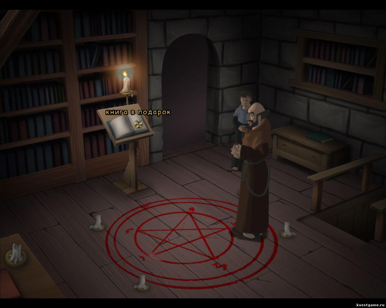 Murder in the Abbey - Леонардо напал на след убийцы в библиотеке (глава 3)