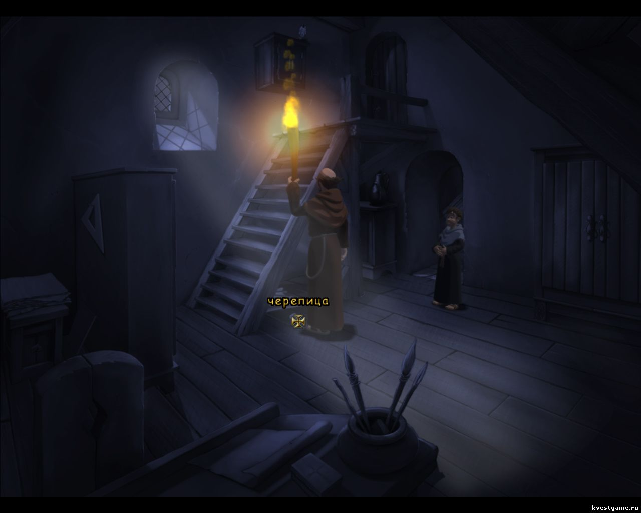 Screenshot из игры Murder in the Abbey - локация Кабинет Марселя (глава 3)