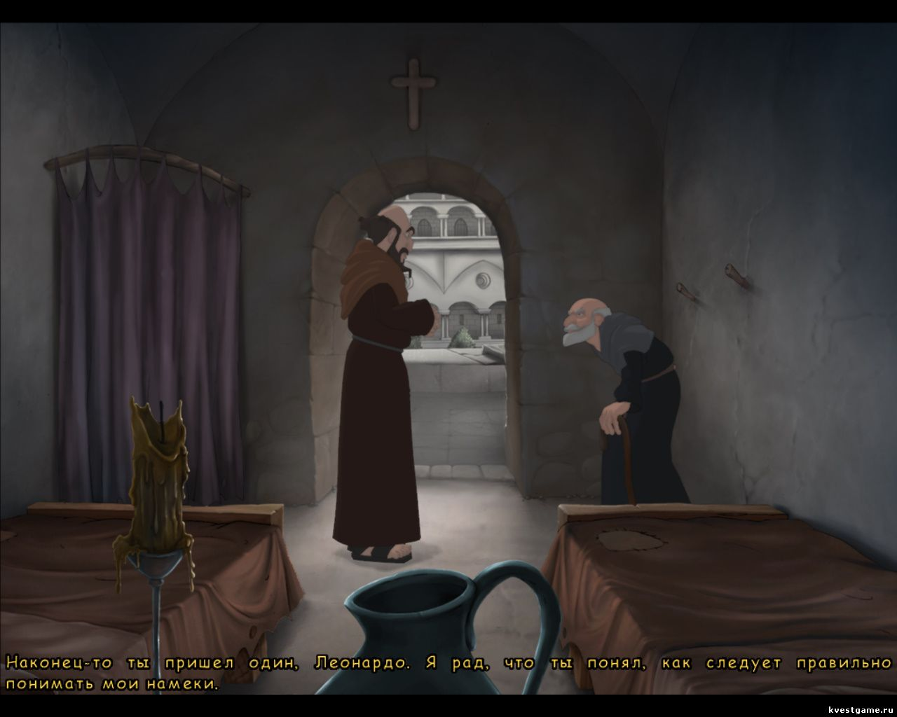 Screenshot из игры Murder in the Abbey - локация Келья Леонардо (глава 4)
