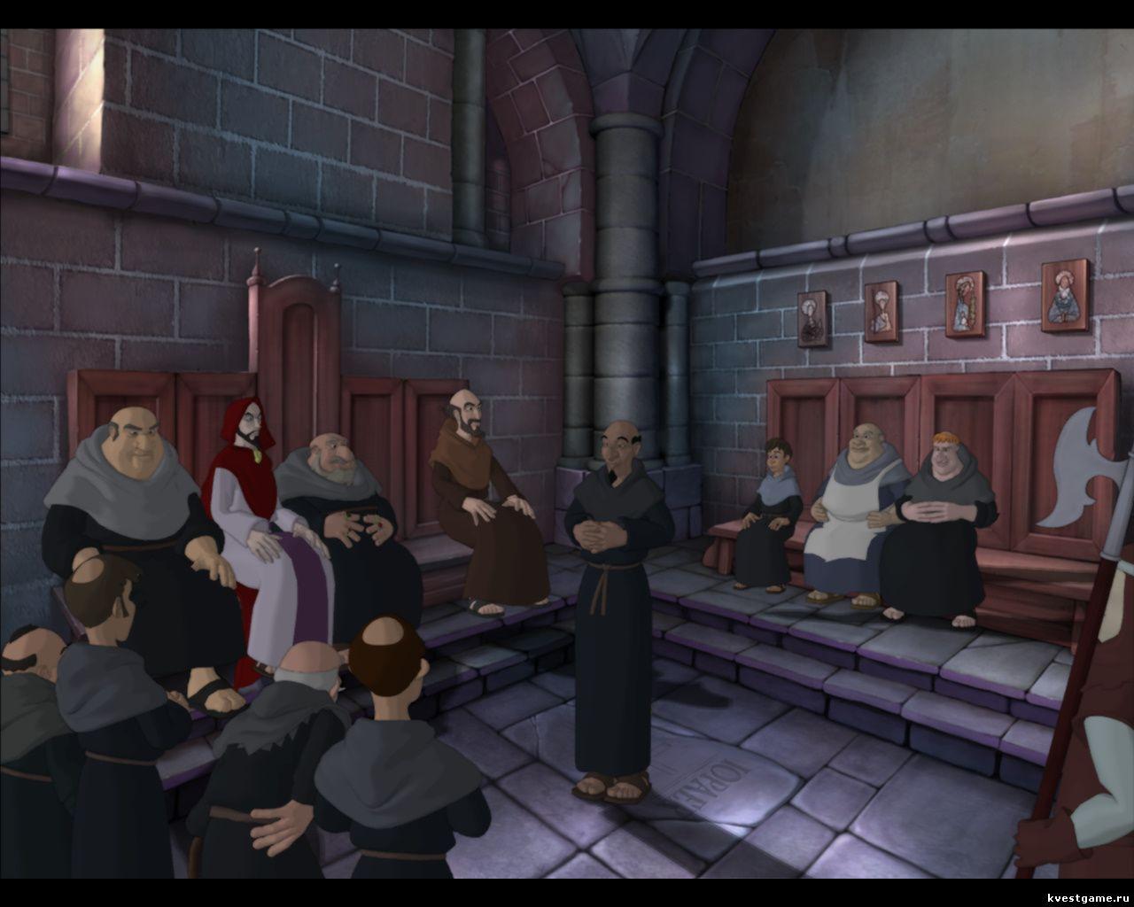 Murder in the Abbey - Собрание монахов в зале заседания (глава 4)