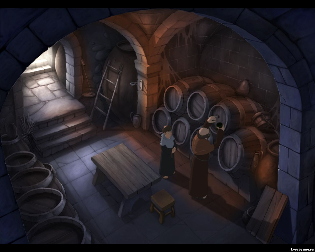 Murder in the Abbey - Интерьер старинного винного погреба (глава 4)