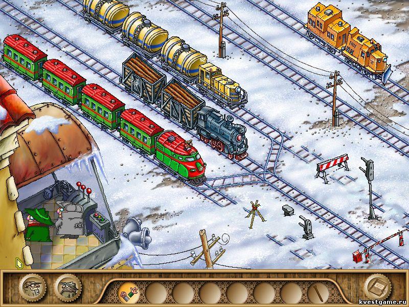 Братья Пилоты 3 - Головоломка с поездами (уровень 4)