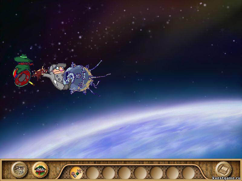 Братья Пилоты 3 - Шеф выкидывает кота из кабины спутника (уровень 7)