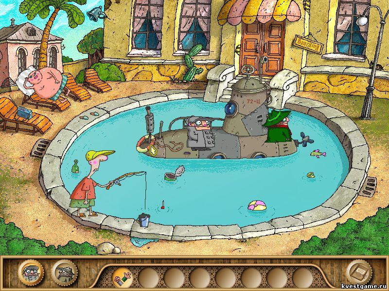 Братья Пилоты 3 - Шеф и Коллега застряли в бассейне (уровень 13)