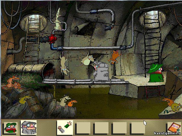 Братья Пилоты - Шеф и Коллега в канализации с крысами (уровень 6)