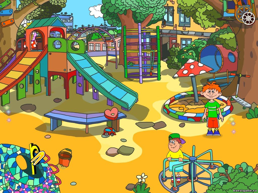 Скриншот детской площадки из игры Ералаш-Лэнд