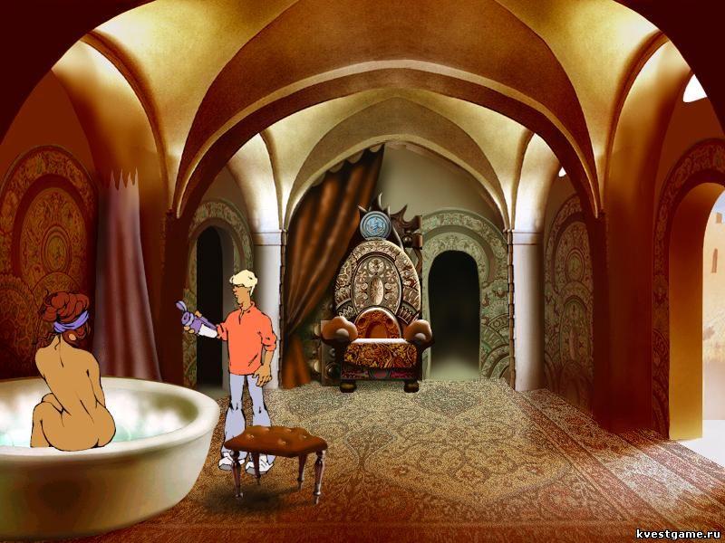 Царица принимает ванну