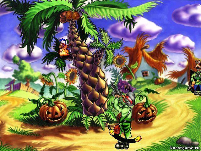 Пальма с кокосами