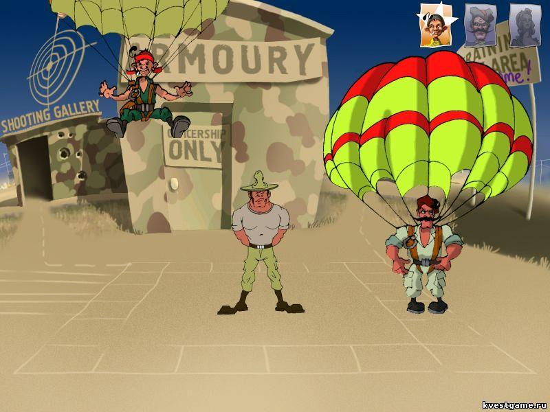 Петька 3 - Учебный прыжок с парашютом