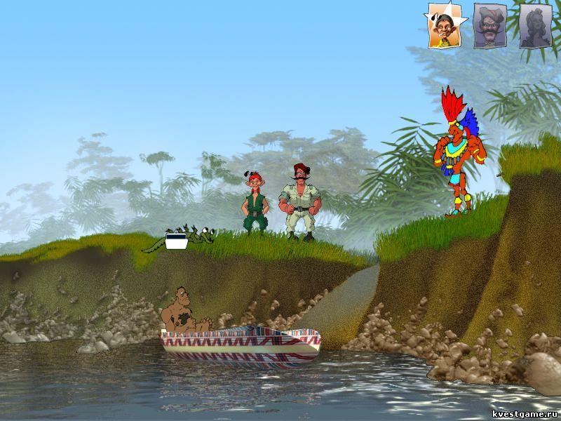 Петька 3 - обмен крокодила на лодку