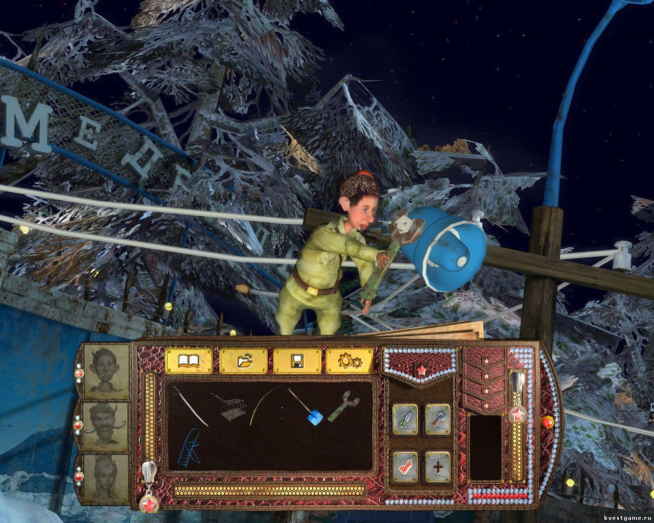 Петька 9 - Петька снимает рупор со столба (уровень 4)