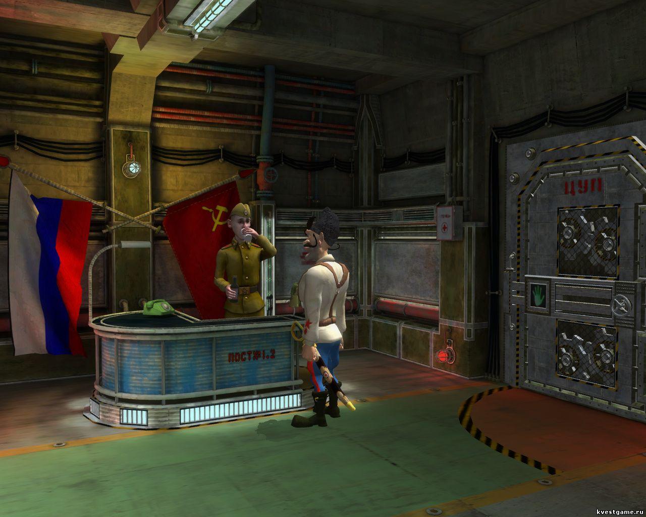 Петька 9 - Чапаев спаивает часового в казарме (уровень 5)