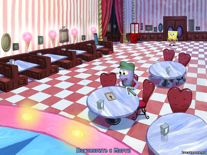 Губка Боб квадратные штаны: Игра по фильму - Морти просит достать ему жареное мороженое (уровень 3)