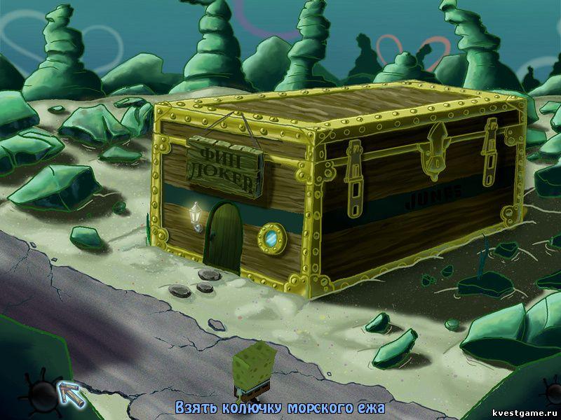 Губка Боб квадратные штаны: Игра по фильму - Губка Боб нашел колючку морского ежа (уровень 6)