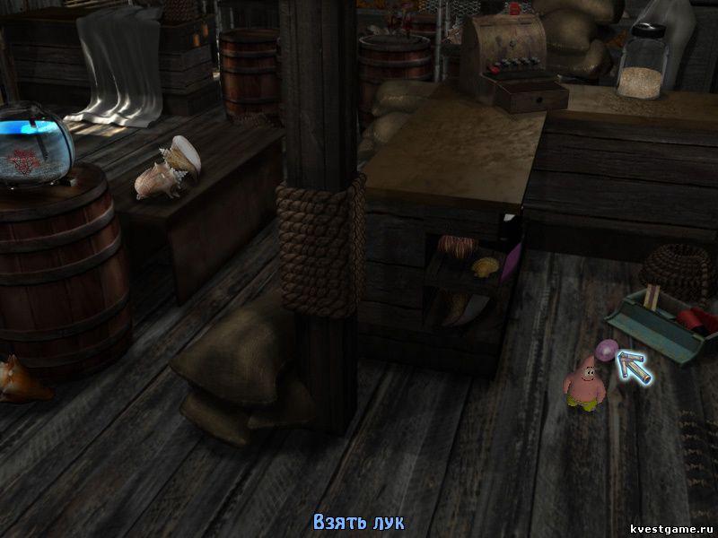 Губка Боб квадратные штаны: Игра по фильму - Патрик в магазине сувениров (уровень 7)