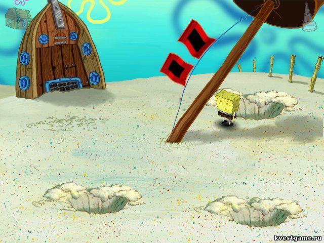 Губка Боб Квадратные Штаны: Работник месяца - Губка Боб ищет клад (уровень 1)