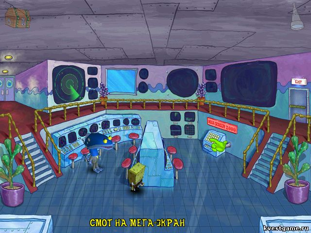 Губка Боб Квадратные Штаны: Работник месяца - Губка Боб и метеоролог Ларри (уровень 2)
