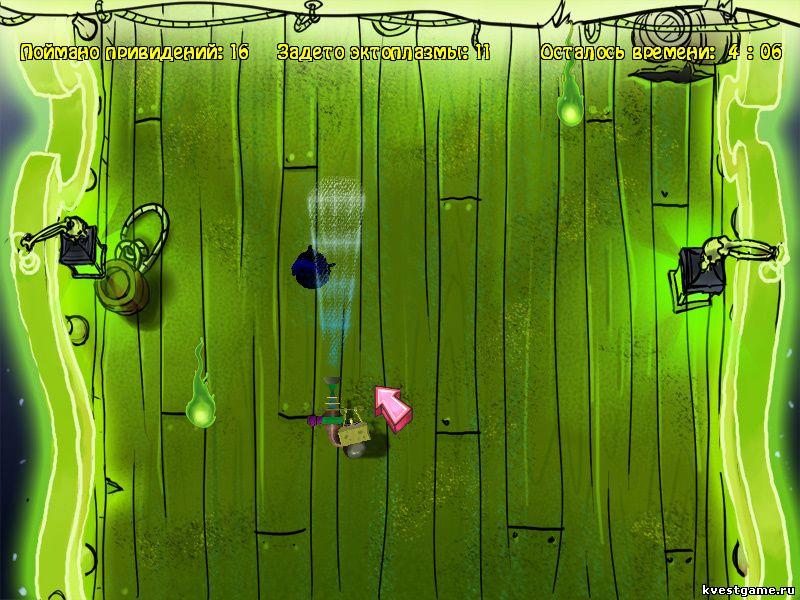 Губка Боб квадратные штаны: Свет, Камера, Штаны! - СпанжБоб ловит пиратов-призраков (уровень 2)