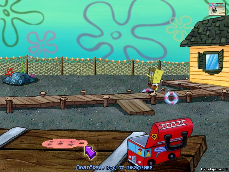 Губка Боб квадратные штаны: Свет, Камера, Штаны! - СпанжБоб нашел код от шкафчика Морти (уровень 3)
