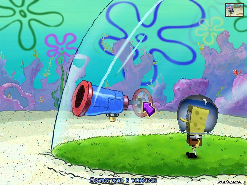 Губка Боб квадратные штаны: Свет, Камера, Штаны! - СпанжБоб смотрит в телескоп белки (уровень 3)
