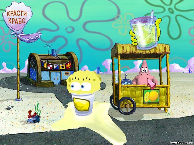Губка Боб квадратные штаны: Свет, Камера, Штаны! - СпанчБоб напился лимонада (уровень 1)